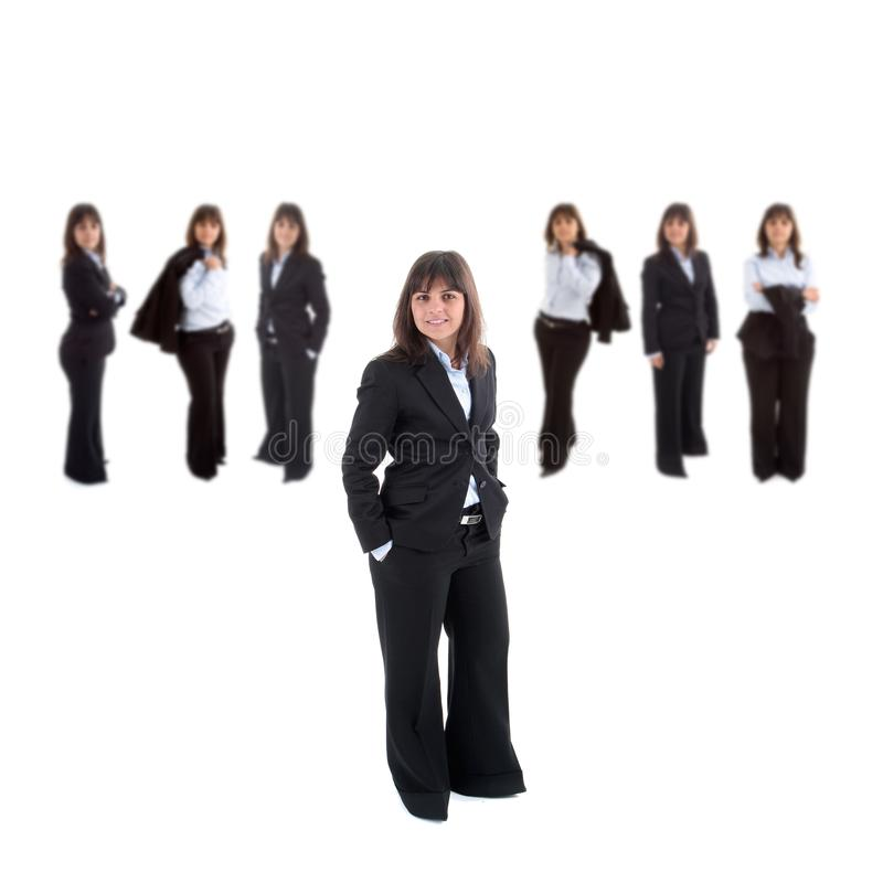 Business Woman Leading Team Stock Images
