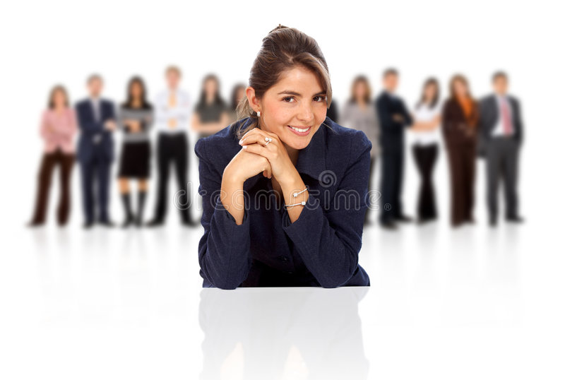 Download Business Woman Leading A Team Stock Image - Image: 5521553