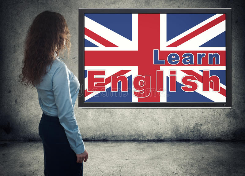 Business woman. Learning english concept stock photos