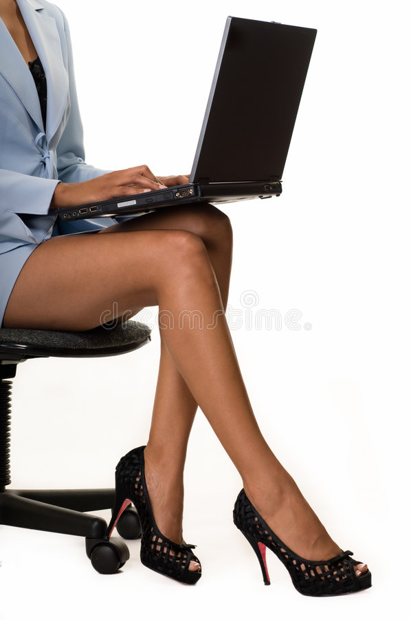 Download Business woman legs stock image. Image of laptop, career - 6795189