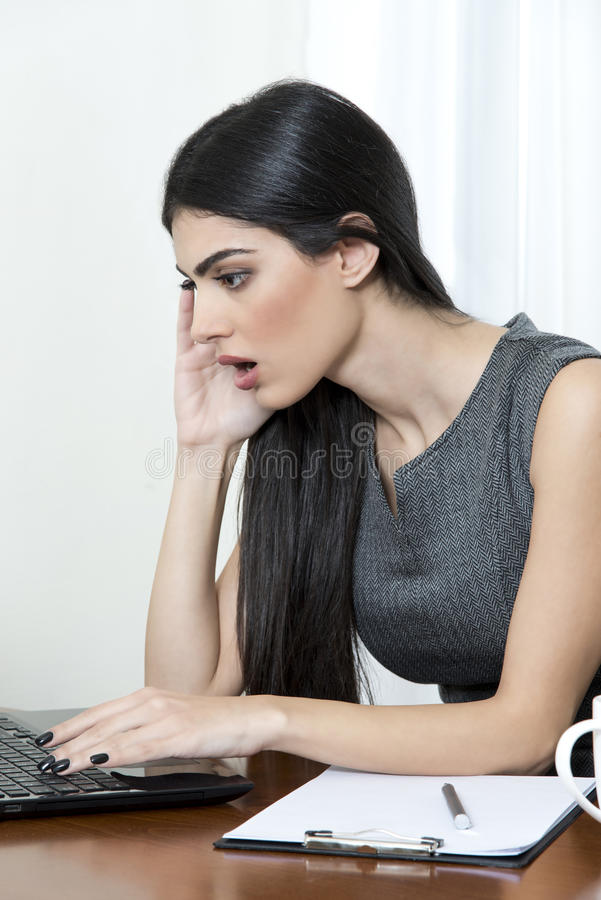 Business woman looking surprised. royalty free stock photography