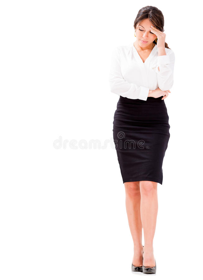 Download Worried business woman stock image. Image of stressed - 30204061