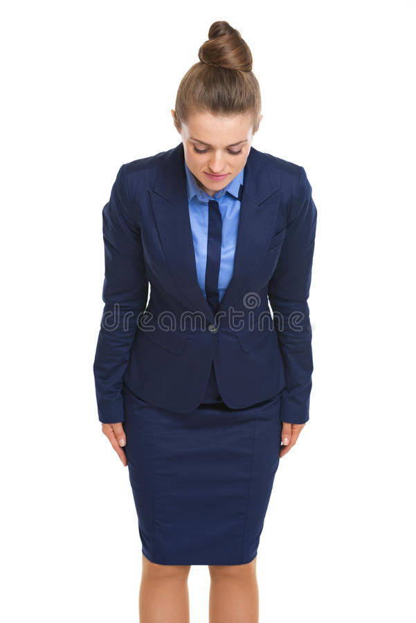 Business Woman Making Asian Greeting Royalty Free Stock Photography