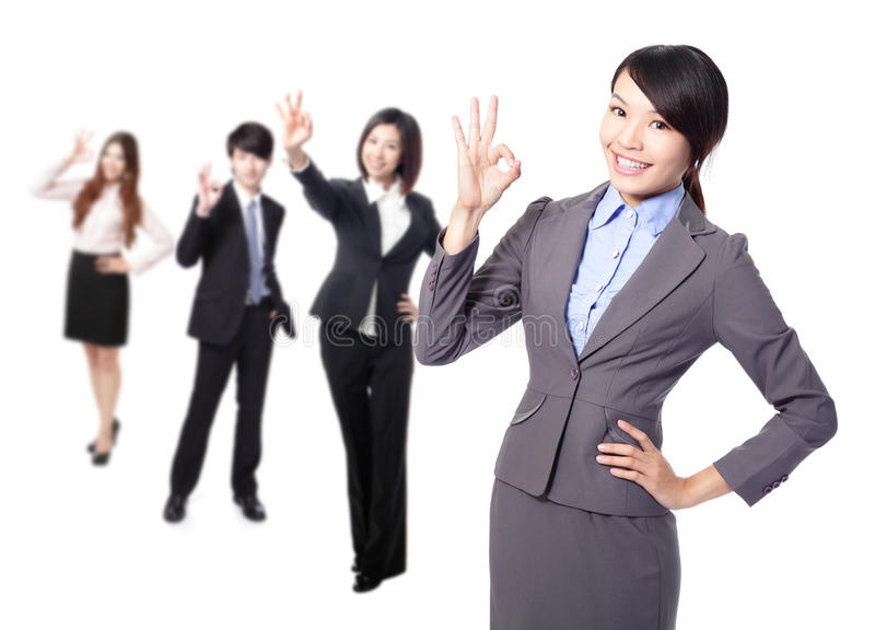 Download Business Woman Making The Ok Sign Stock Image - Image: 28526729