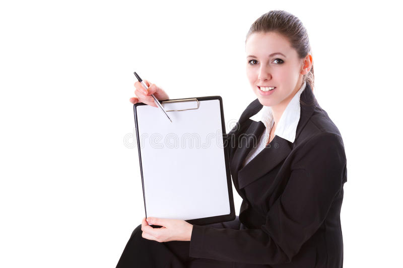 Business woman making presentation on the board