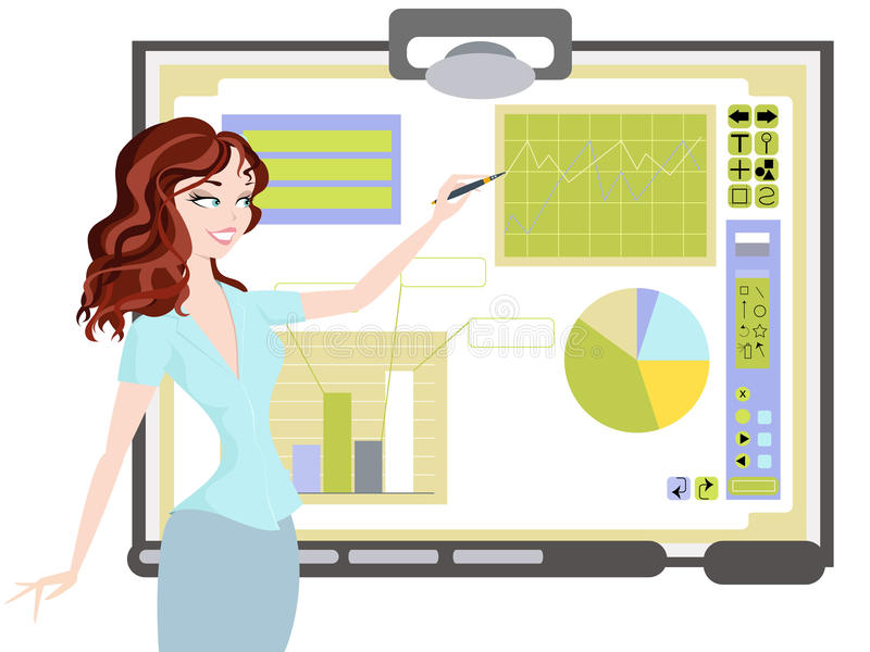 Download Business Woman Making Presentation At Meeting Stock Vector - Image: 27666145