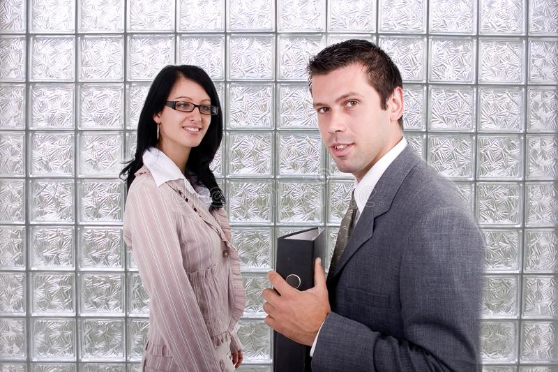 Business woman and man royalty free stock images
