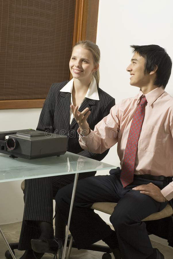 Business Woman and Man stock images