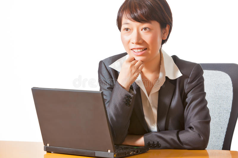 Download Business woman in meeting stock photo. Image of isolated - 21840546