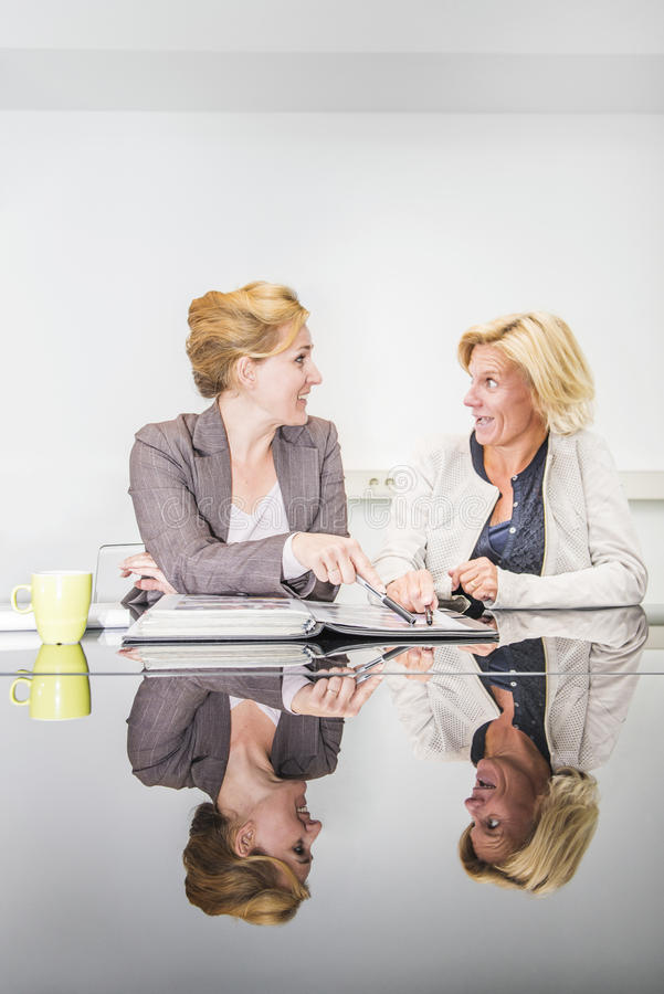 Business woman in a meeting royalty free stock image