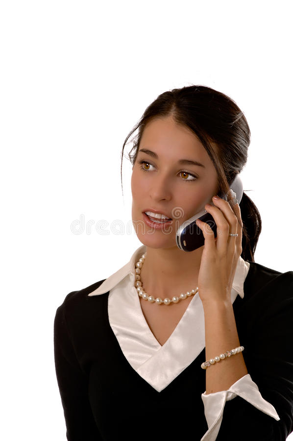 Business woman on a mobile phone stock photos