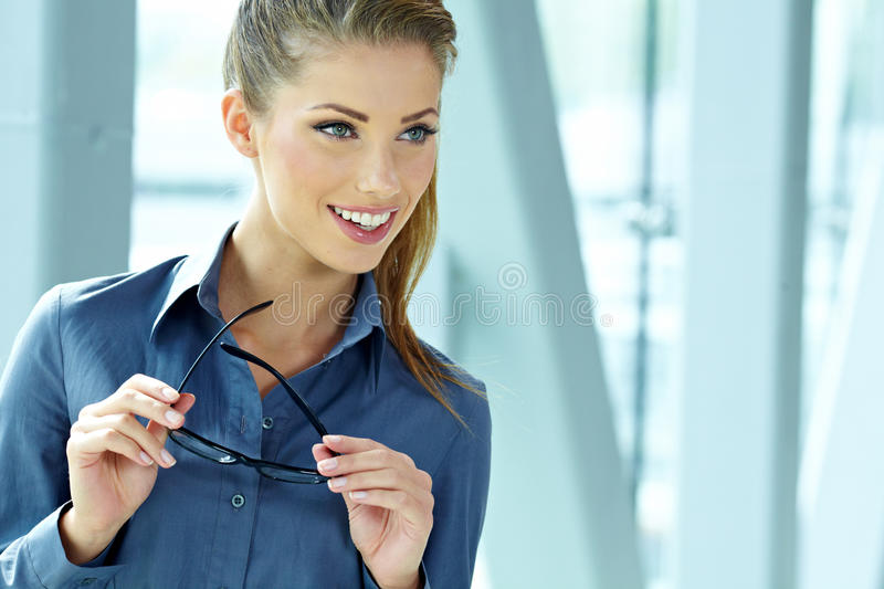 Download Business Woman In Modern Interior Stock Image - Image: 27184567