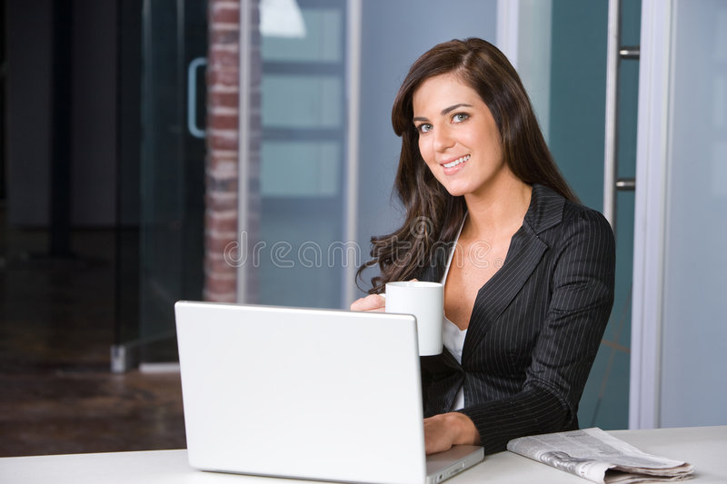 Download Business Woman In A Modern Office Royalty Free Stock Photography - Image: 8831267