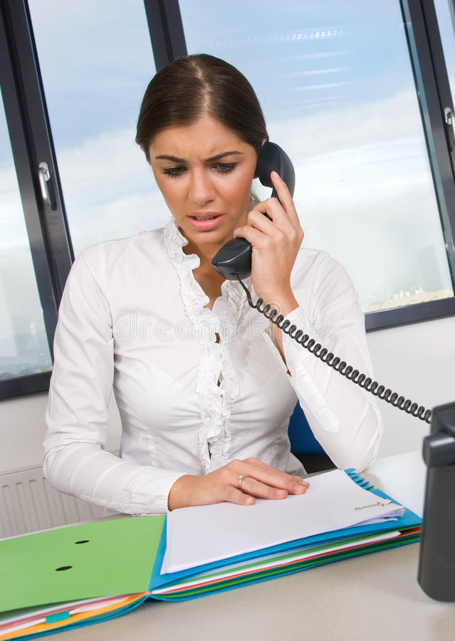 Download Business woman in office stock image. Image of phone - 11652877