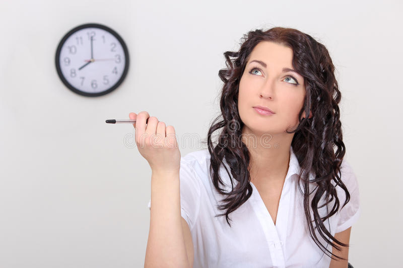 Download Business Woman With In Office Stock Photo - Image: 28390540
