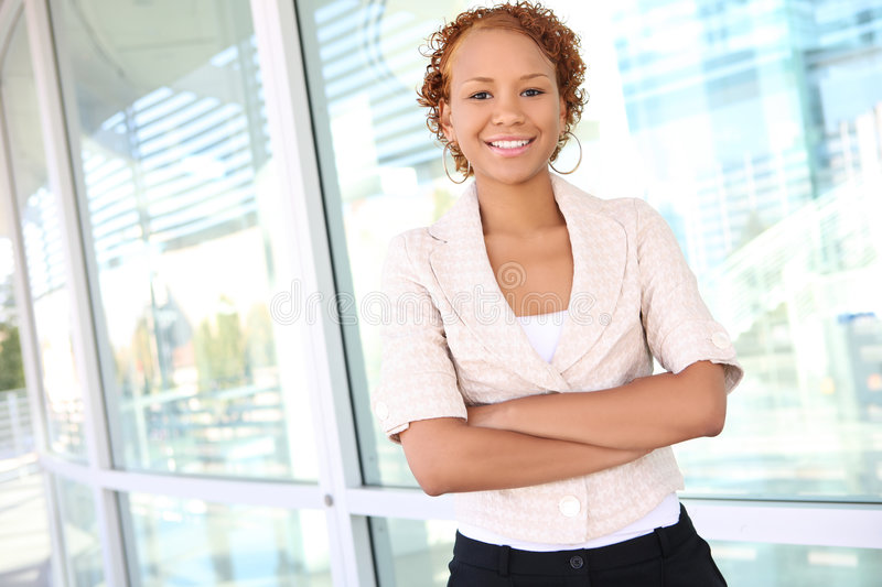 Download Business Woman At Office Building Stock Photo - Image: 6570728