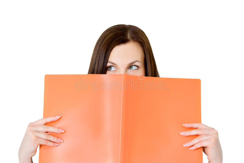 Business Woman In An Office With Documents Stock Photo