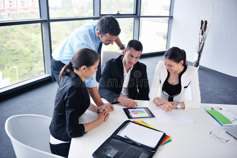 Download Business woman at  office stock image. Image of office - 32520783