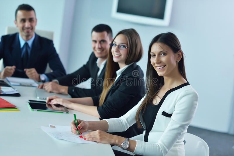 Download Business woman at  office stock image. Image of career - 32520785