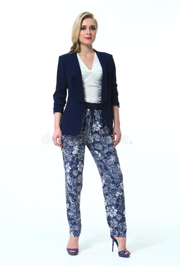 Business woman in official formal clothes stock images