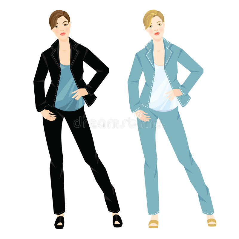Business woman in official formal suit royalty free illustration