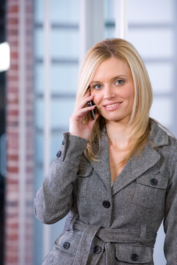 Free Business Woman On A Cell Phone Royalty Free Stock Photography - 8592767