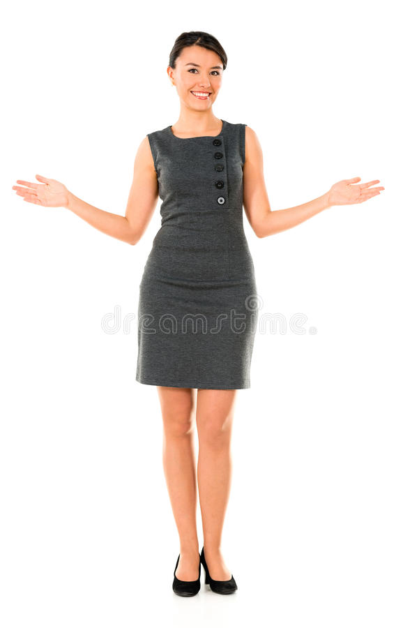 Download Business Woman With Open Arms Stock Image - Image: 33527095