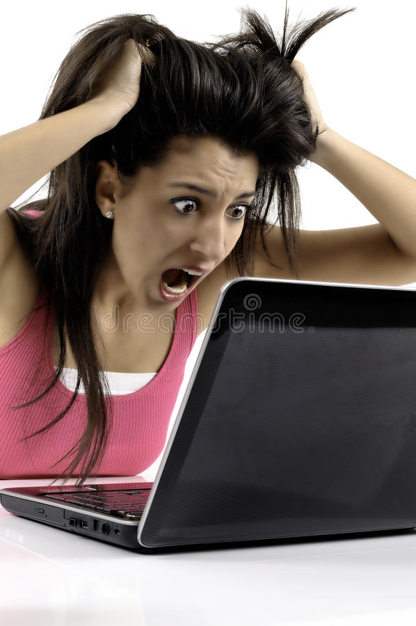 Download Business woman panic stock image. Image of internet, asian - 23581849