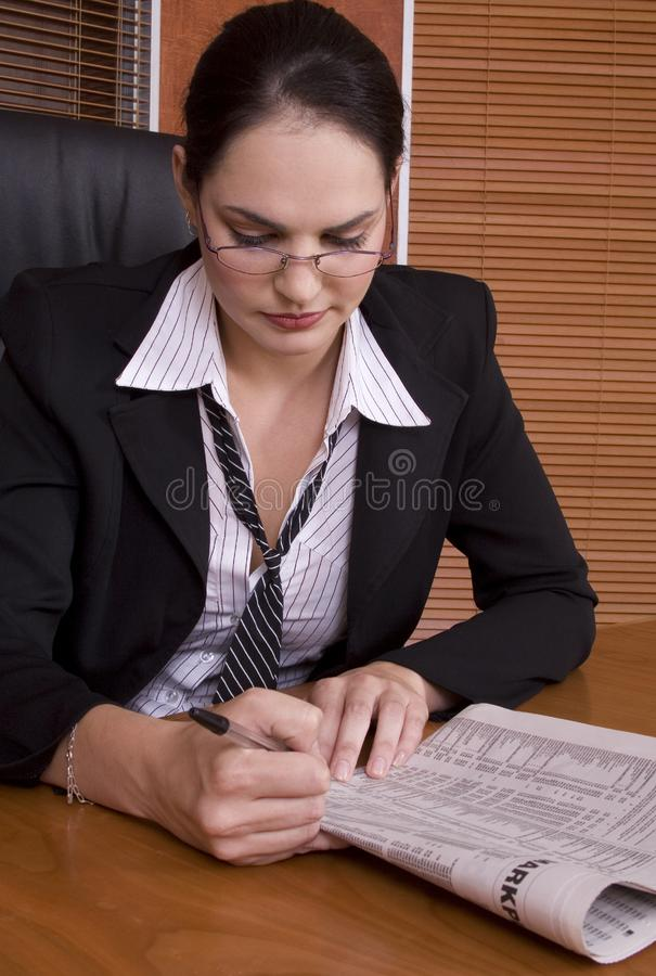 Business woman paper royalty free stock image