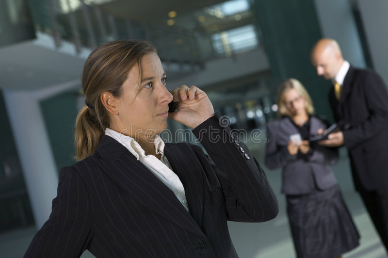 Download Business Woman On The Phone Stock Image - Image: 3222423