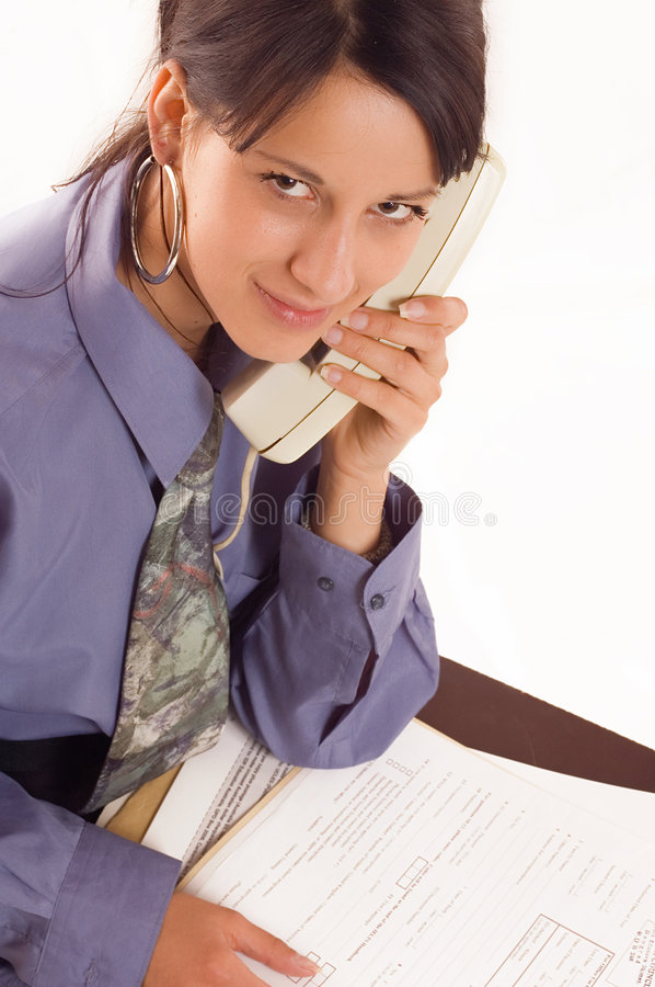 Business woman and phone stock photos