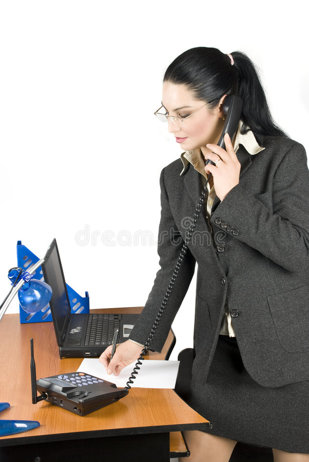 Download Business Woman On The Phone Royalty Free Stock Photo - Image: 6992105