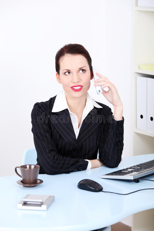 Download Business Woman On Phone Call At Office Stock Photo - Image: 21805044