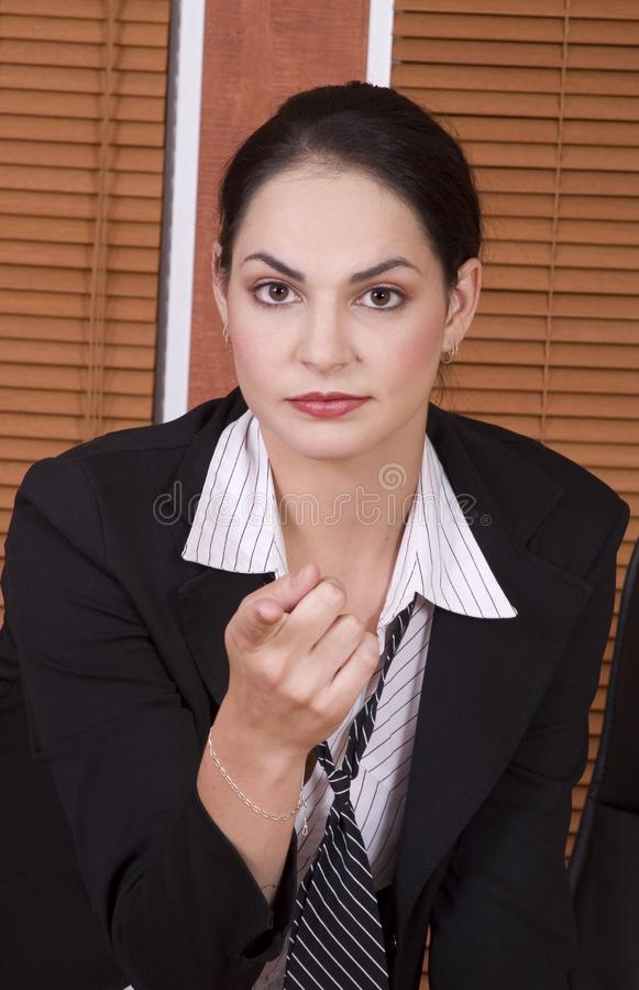 Business woman point royalty free stock images