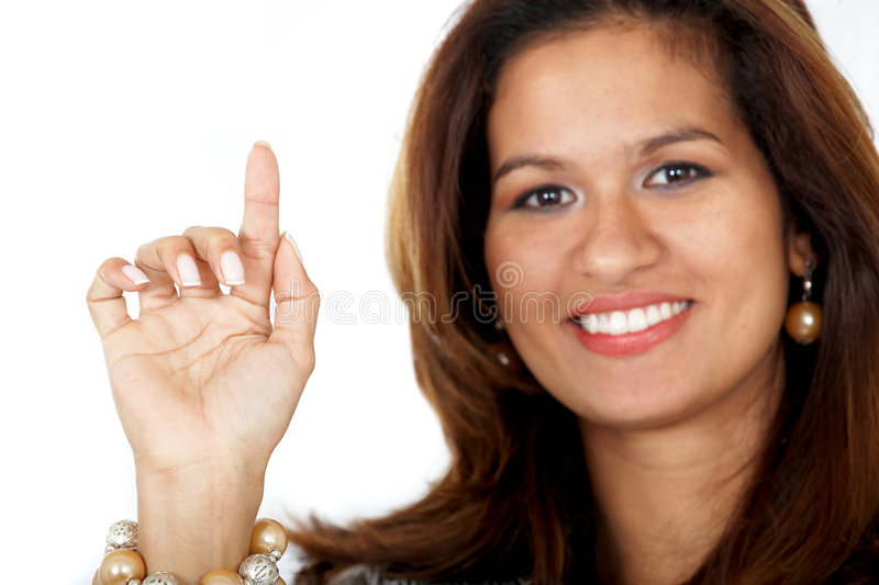 Download Business woman pointing stock photo. Image of businesswoman - 4982458