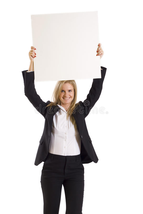 Download Business Woman Pointing At Blank Billboard Stock Image - Image: 11539195