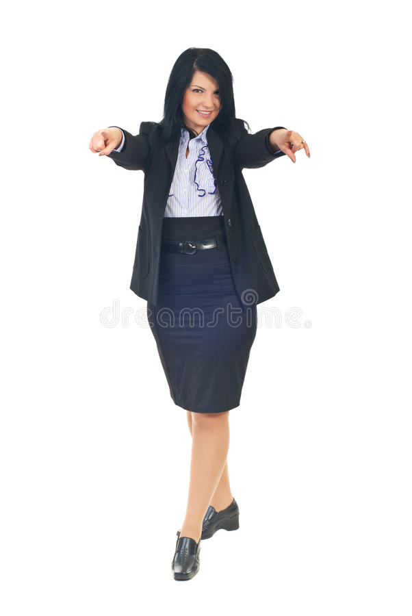 Download Business Woman Pointing To You Stock Image - Image of looking, choose: 17393169