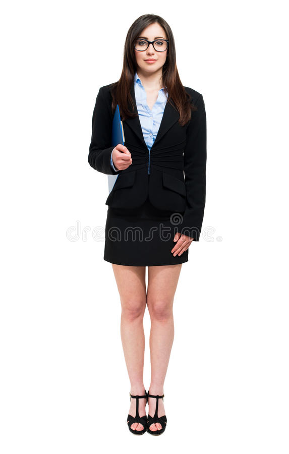 Business woman portrait full length royalty free stock photo