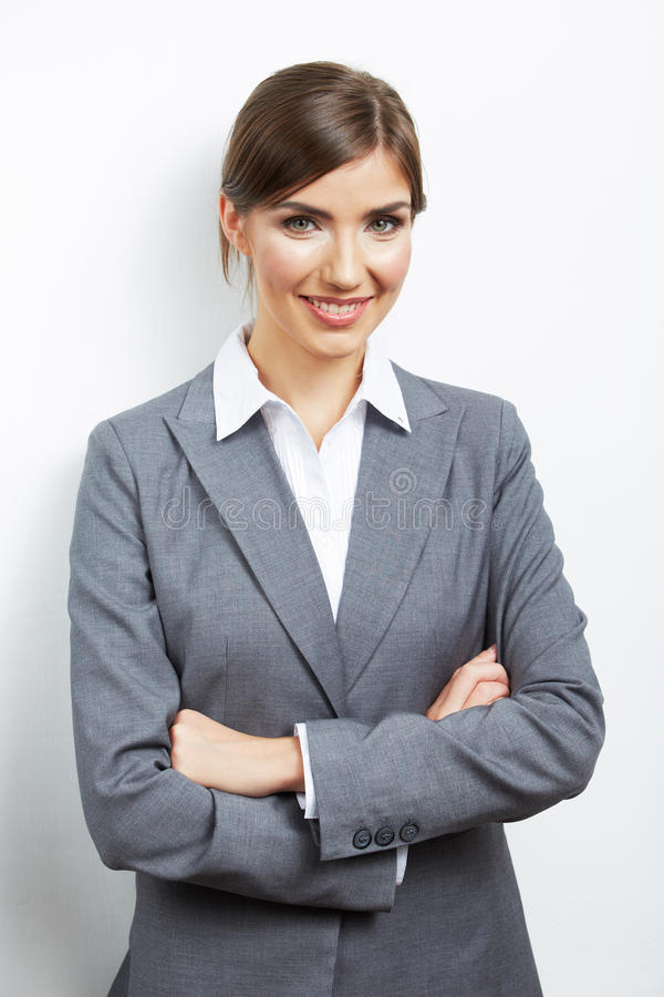 Business woman portrait isolated on white stock images