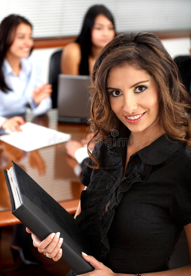 Download Business Woman Portrait In An Office Stock Photo - Image: 4036668