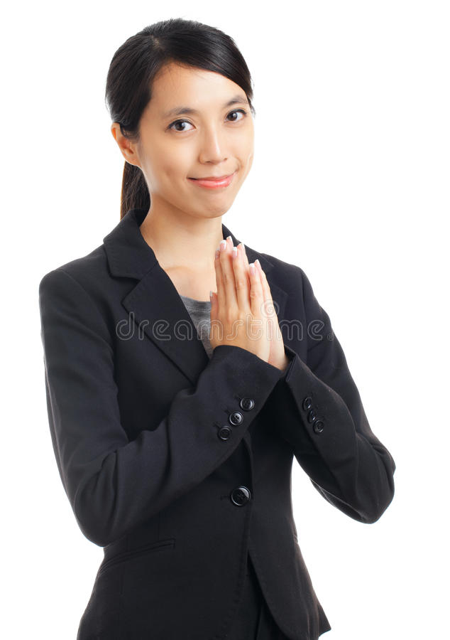 Download Business Woman Pray Royalty Free Stock Photography - Image: 33312597