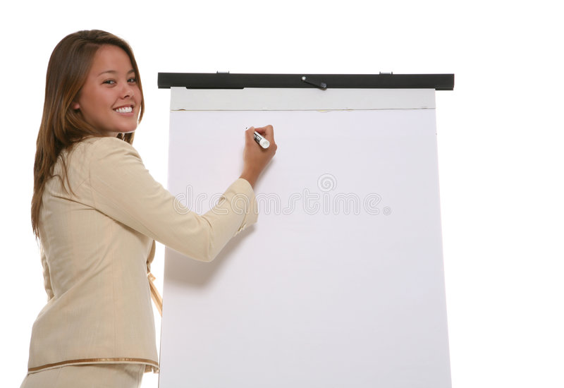 Business Woman Presentation stock images