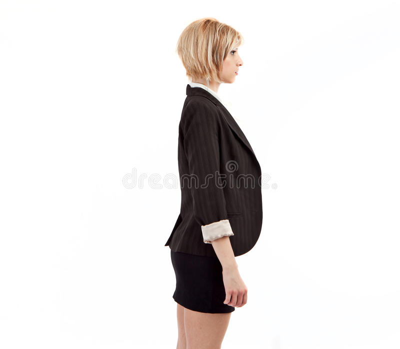 Business woman profile stock photo