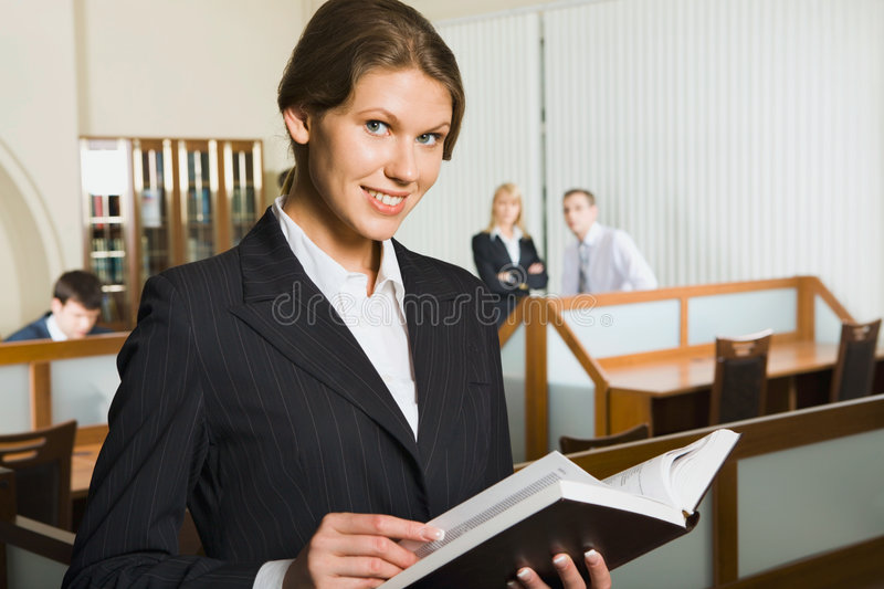 Download Business woman is reading stock photo. Image of executive - 2793414