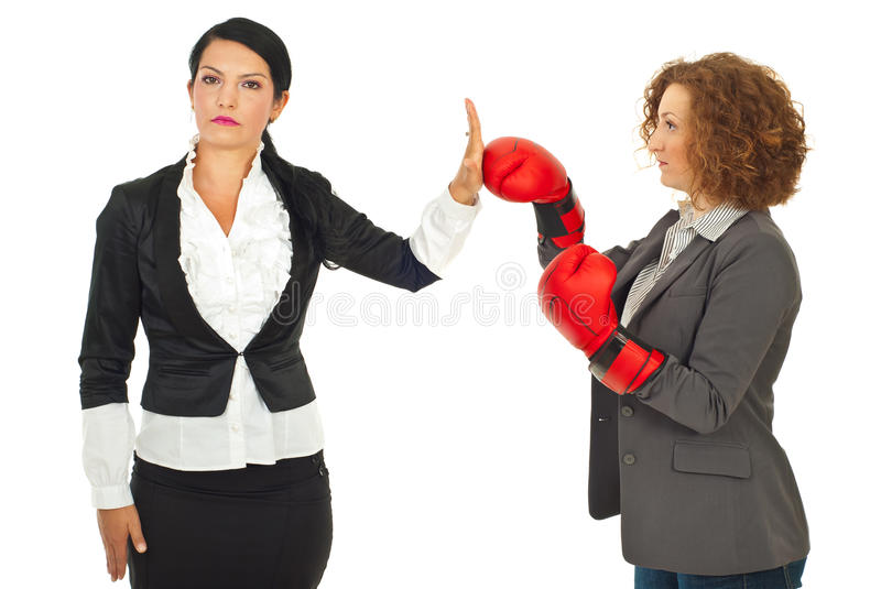 Download Business Woman Refuse Fight Stock Photo - Image: 20311410