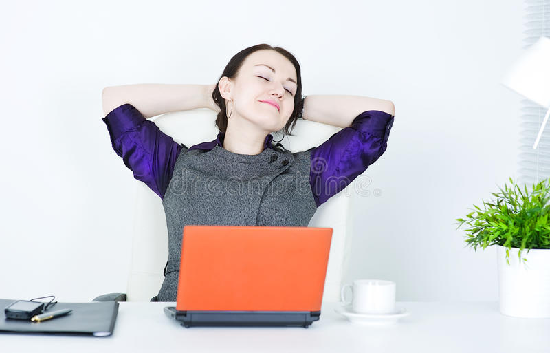 Business woman relax royalty free stock photo