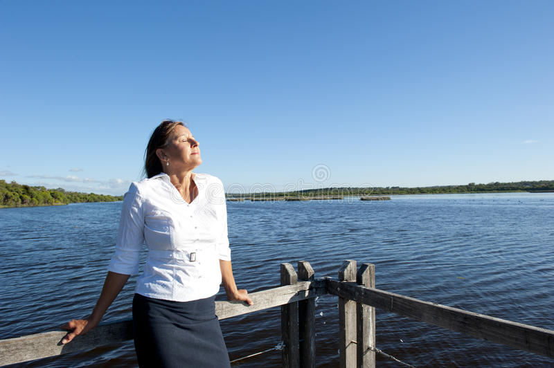 Business Woman Relaxed Outdoor royalty free stock images