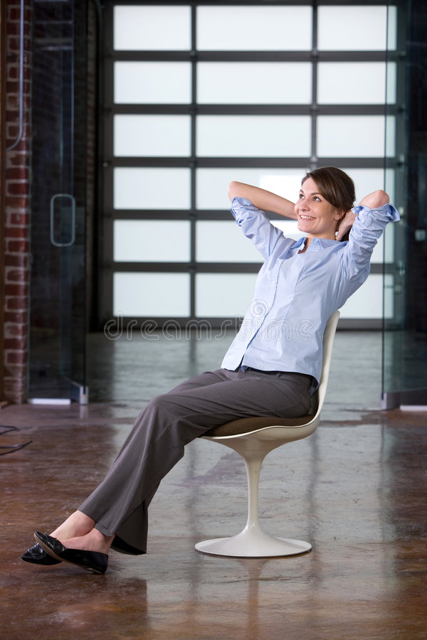 Free Business Woman Relaxing Royalty Free Stock Photos - 8458228