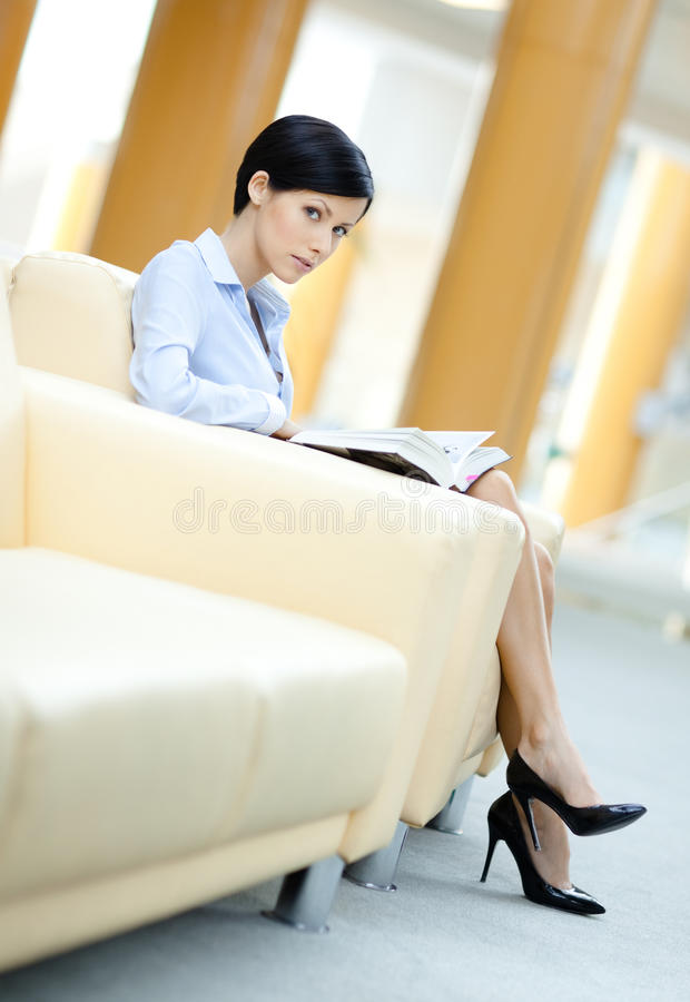 Download Business Woman Rests At The Sofa Stock Image - Image: 26631055