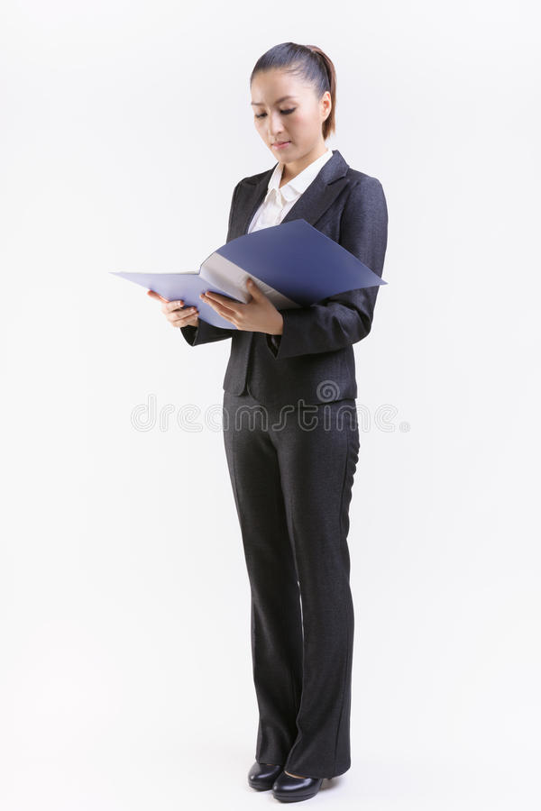 Download Business Woman Review Files Stock Photo - Image: 31173950
